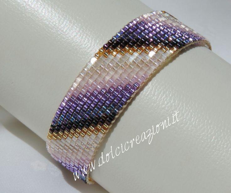 Bracciali realizzati a telaio - beadloom bracelets Www.dolcicreazioni.it