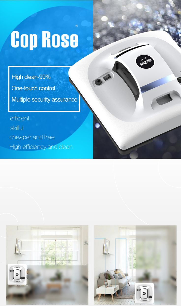 Cop Rose X6 Window Cleaning Robot Machine Remote Control High Window Cleaning Tool