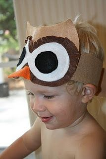 Owl headband; great for nocturnal animals