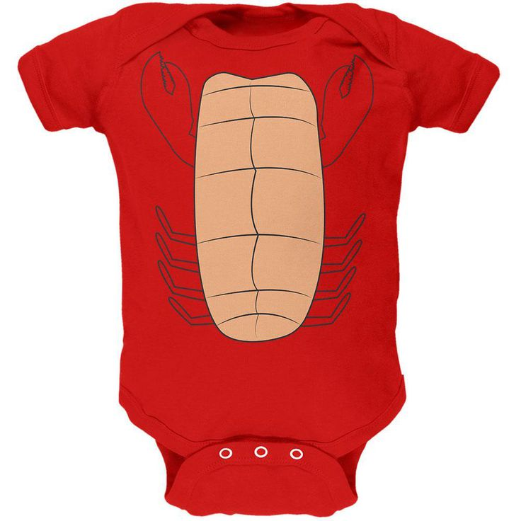 Halloween Lobster Costume Soft Baby One Piece