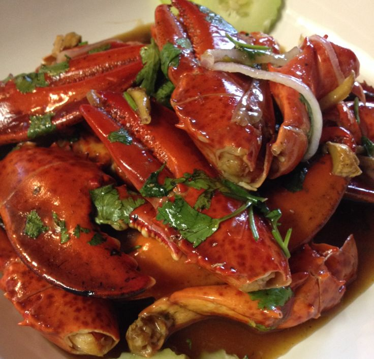 Laotian Lobster Claws in Tamarind Sauce, which holiday platter did YOU order? Only at STG!  8055 Elk Grove Florin Rd Sacramento, CA 95828 916)681-8286 www.sabaideethaigrille.net