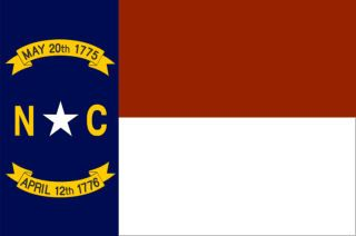 Depicted above is the state flag of North Carolina. The flag of the state of North Carolina is a symbol of the authority and sovereignty of the state and is a valuable asset of its people. The North Carolina flag is flown over all state buildings just below the country flag of the United States of America.
