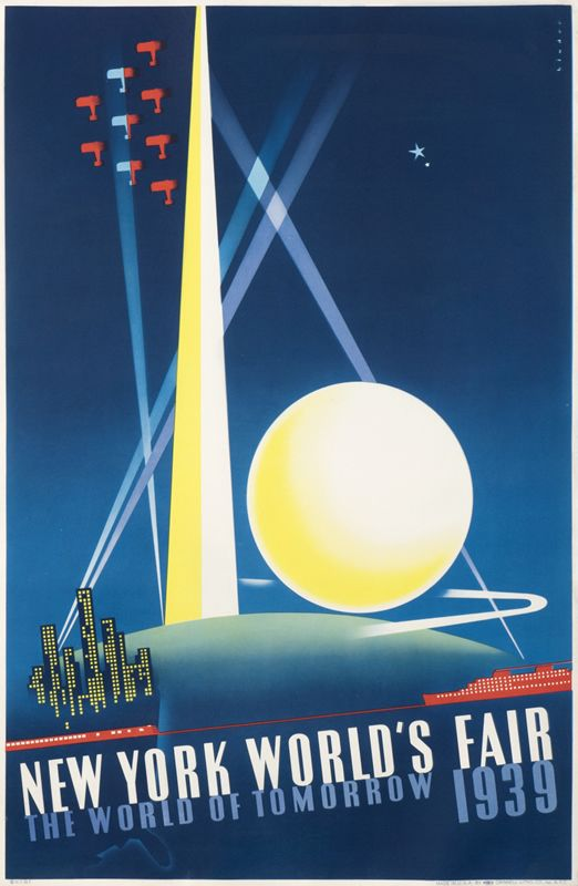 Joseph Binder Poster: New York World's Fair 1939