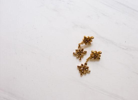 DOUBLE CRYSTAL EARRING http://www.thedarkhorse.com.au/shopping/EARRINGS/DOUBLE-CRYSTAL-EARRING-GOLD---BALYCK-X-WEDDED-WONDERLAND