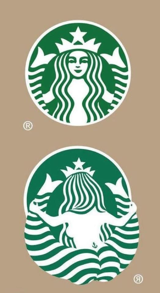 Starbucks logo from behind. I will never look at it the same again