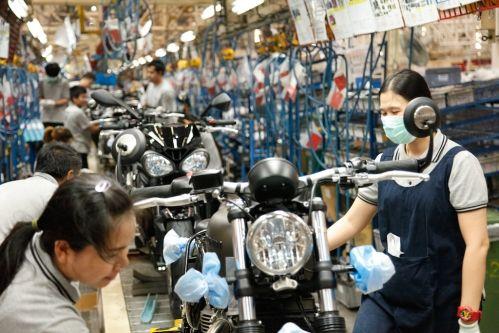 Triumph motorcycles Thailand factory visit