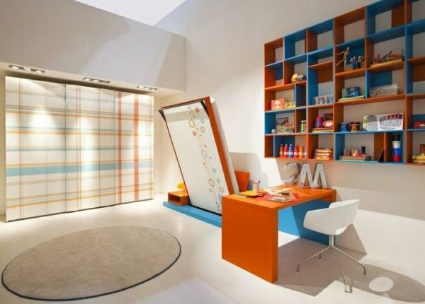In a small apartment or kids bedroom in a large home, maximizing available space makes modern home interiors feel more spacious and attractive. Description from designrulz.com. I searched for this on bing.com/images