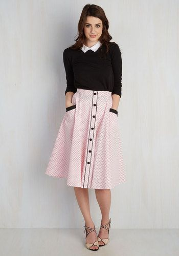 Heps and Dreams Skirt in Petal $59.99 AT vintagedancer.com