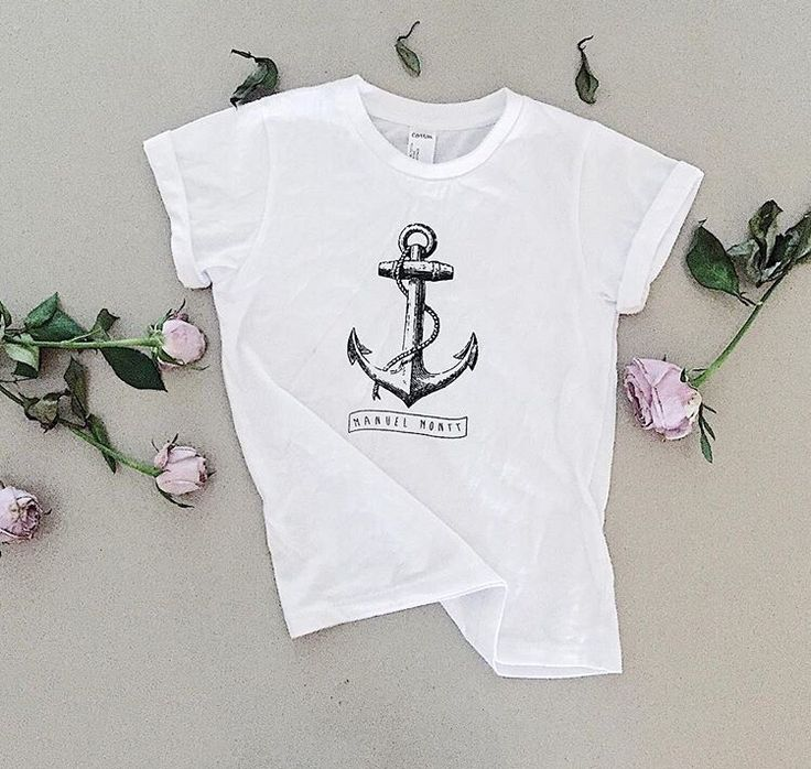 Manuel Montt Kids organic tee, nautical anchor print, Australian made, sweatshop free