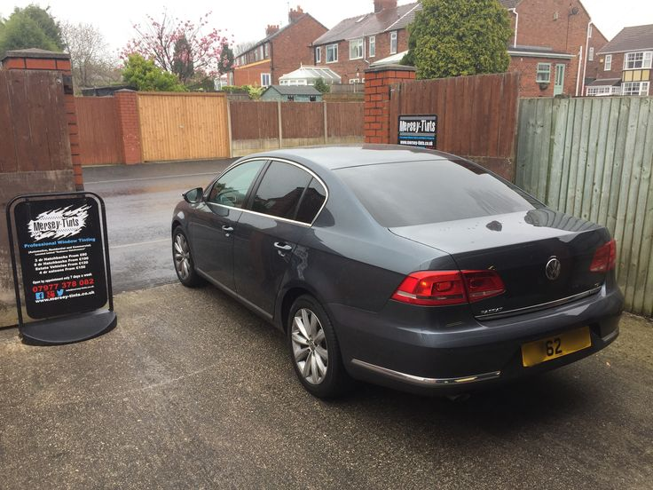 2012 VW Passat in this afternoon for 5% Carbon limo tints to the rears