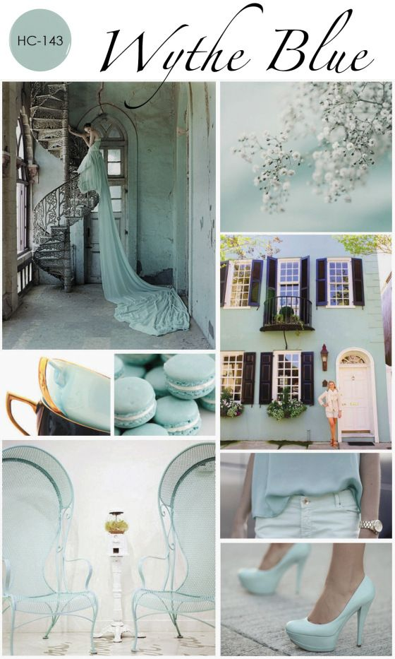 Benjamin Moore Wythe Blue - painting the paneling in our kitchen this color :)