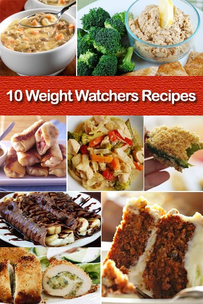 10 More Great Weight Watcher Recipes