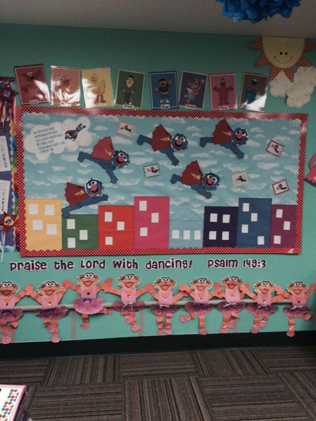 Sesame Street Classroom Theme Bible Bulletin Board Super