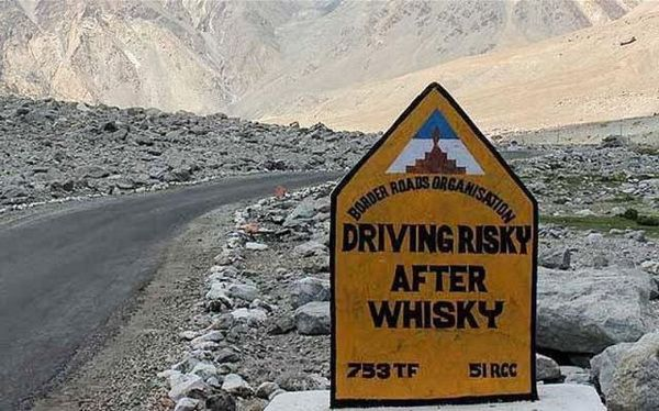 Driving risky after whisky