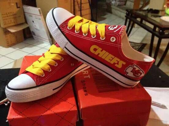 MUST HAVE!!! Kansas city Chiefs unisex tennis shoes by sportsfun on Etsy