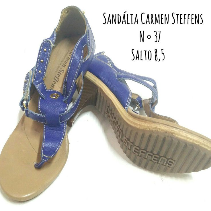 🎶🎵Tudo azuuuuul🎵🎶 Sandália CARMEN STEFFENS  N ° 37, salto 8,5cm  De 70 reais  POR SOMENTE 60 REAIS 😲👉promoção de Janeiro  🆙Atendimento c ⏰marcada 📞 Whatsapp  31 8729-0249 💳 Aceitamos débito e cred  #carmensteffens #shoes #sandalia #blue #luxurylife  #uohbrecho #brecho #fit #moda #instagood #pretty #blessed #girl  #love #brechoinfantil  #cool #good #cute #follow #fashion #fun #igers  #ootd #blogger #inlove #model #blog #belohorizonte #brasil