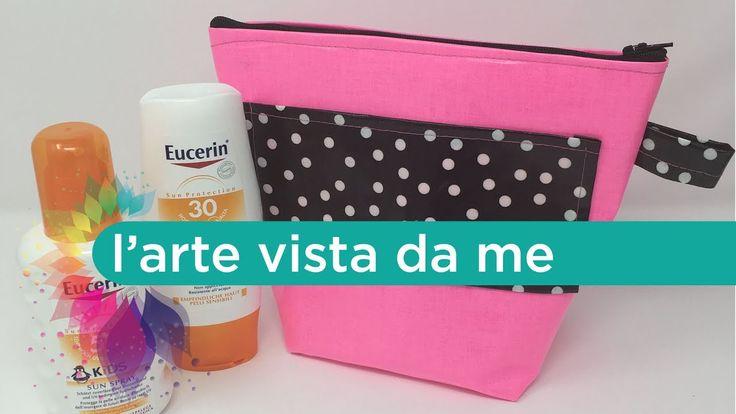Cucito creativo Tutorial: Pochette mare plastificata Fai da te -Waterpro...