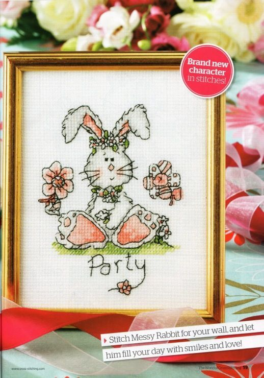 Messy Rabbit The World of Cross Stitching Issue 153 August 2009 Saved