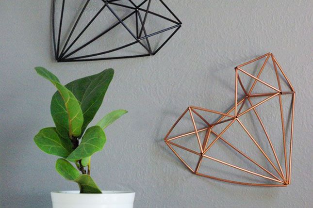 Use cocktail straws to make this cool wall art.