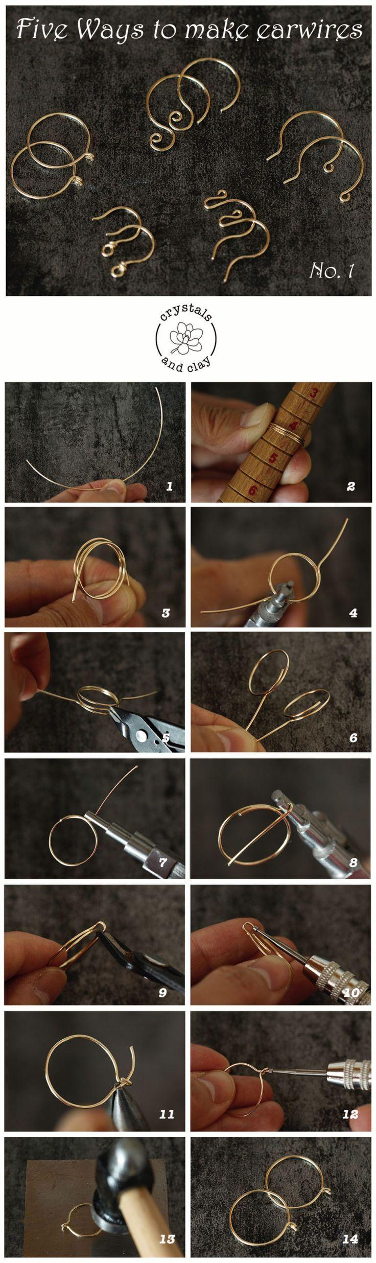 Grundlagen der Schmuckherstellung 4 – Fünf Möglichkeiten, Ohrhaken herzustellen