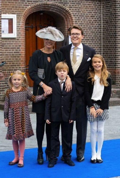 Dutch Prince Constantijn, Princess Laurentien, Countess Eloise, Count Claus-Casimir and Countess Leonore arrive for the wedding of Prince Jaime de Bourbon de Parma in the Church Onze Lieve Vrouwe ten Hemelopneming in Apeldoorn, 05.10.13.