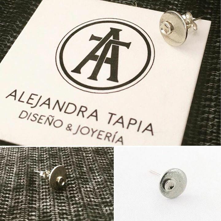 Aro solitario luna, alpaca y plata | Ale Tapia | Patagonia • Chile.