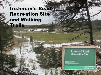 The Irishman's Road Recreation Centre walking trails are located in Hants County off the 101 Highway are a great place for a walk or mountain bike ride