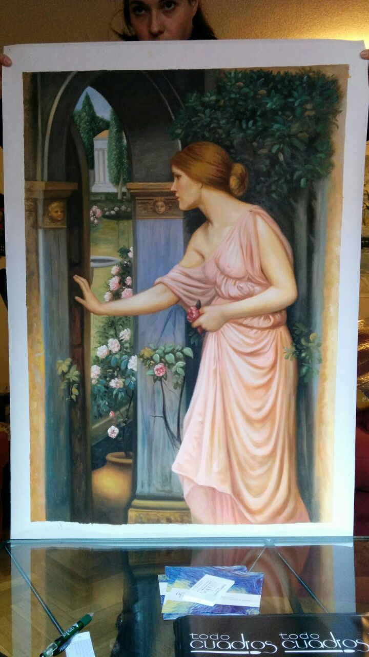 Psiche Apre la Porta del Giardino di Cupido, J. W. Waterhouse