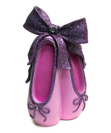 Take a look at this Purple Ballet Shoe Bank by KingMax Product on #zulily today!