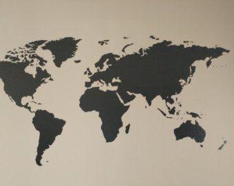 World Map Vinyl Decal von VivaciousVentures auf Etsy