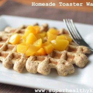 Flax Freezer Waffles- Homemade and Toaster Ready
