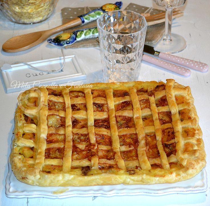 Crostata patate salsiccia e gorgonzola