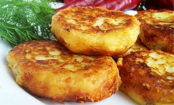 Картофельные оладьи с сыром рецепт