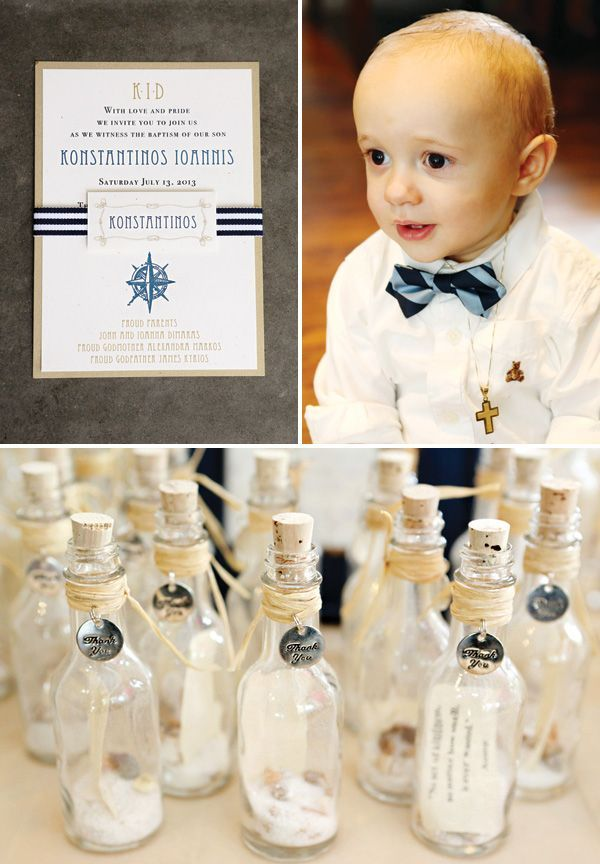 Elegant Nautical Christening & First Birthday Party | hostess with the mostest