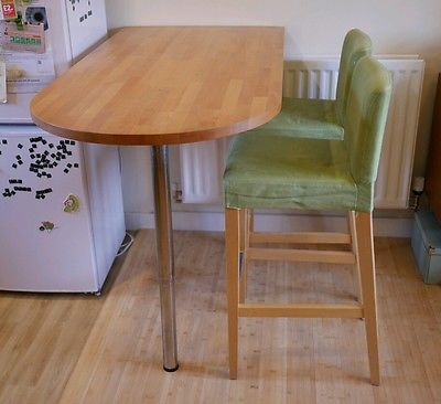 Ikea bar table GERTON table top and leg Timber Breakfast ...