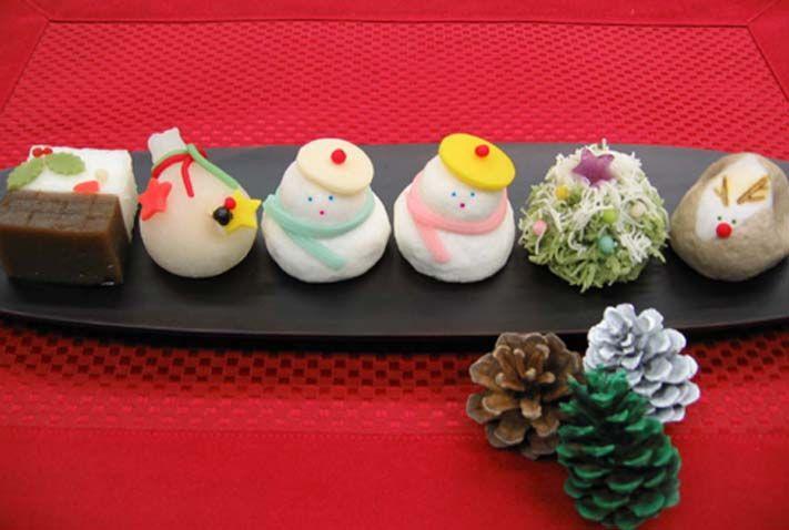 Christmas wagashi ^^