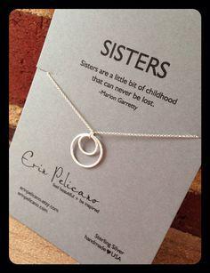 Schwestern Halskette. Schwester Schmuck. Inspirierende Geschenk
