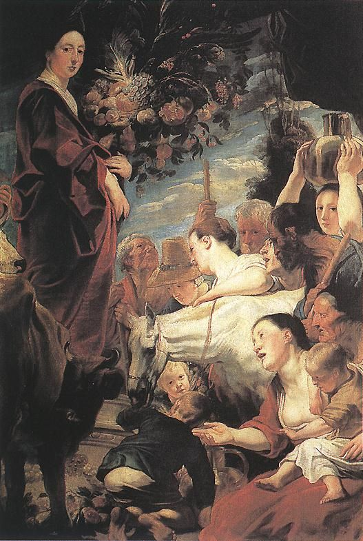 """Offering to Ceres Goddess of Harvest by artist Jacob Jordaens. I believe this is where we get the word """"cereal"""""""