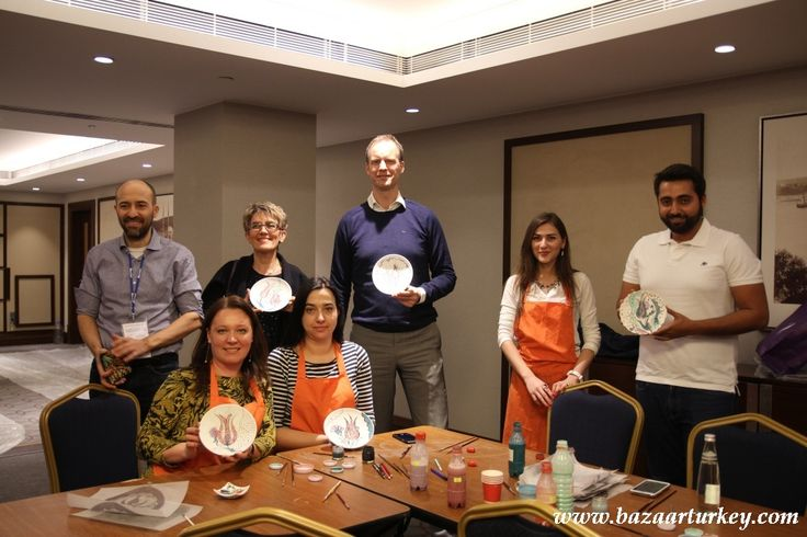 Traditional Turkish and Ottoman Tile Ceramic Design Workshop in Istanbul for this very nice meeting Group.  April 2016