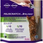 Feliscratch by Feliway  Feliscratch  Feliscratch verplaatst ongewenst krabben naar de gewenste plek voorkomt ongewenst krabben bij nieuwe katten of kittens. 70% van de katteneigenaren ervaren krabgedrag op ongewenste plekken. Denk aan verticaal krabben (de bank stoel- en tafelpoten of het behang) en horizontaal krabben (het zitgedeelte van de bank of het tapijt). Dit terwijl 2/3 van deze katteneigenaren een krabpaal hebben waar de kat niet of nauwelijks naar om kijkt. Feliscratch helpt…