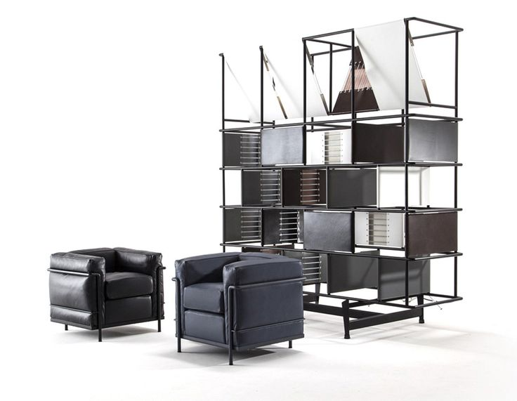 LC2  Chrome Plated Steel Frame-Armchair-Cassina-Le Corbusier