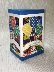 Pop up balloon Die - gift box