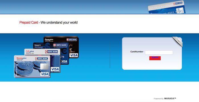 HDFC Forex Card Login