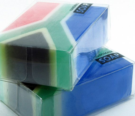 2 BARS South African Flag Soap by TrendiSoaps on Etsy