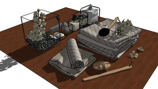 Large preview of 3D Model of towel_m14