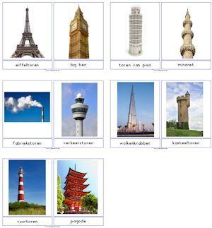Printable architecture cards Bouwen downloads » Juf Sanne