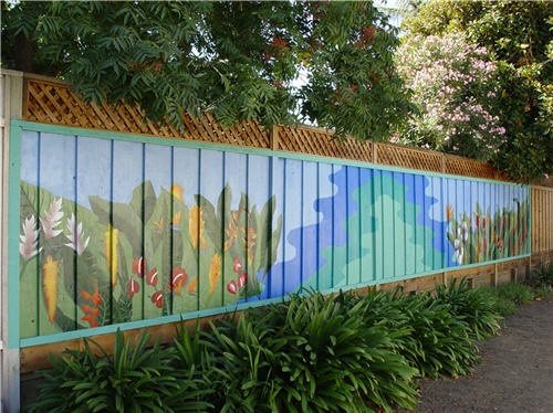 87 best images about murals on pinterest outdoor fence for Exterior mural painting