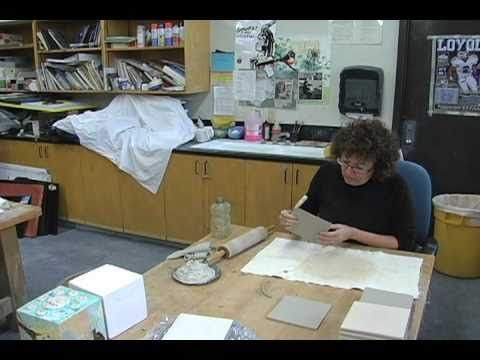 Preparing the sides of a ceramic box requires detail and skill.  In this video, Nancy Turner demonstrates how to prepare the clay sides for the box.
