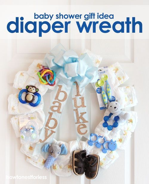 Baby Gift Ideas Using Diapers : Best baby shower wreaths images on diaper