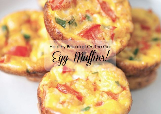Healthy Breakfast On The Go: Egg Muffins, mix n match ur fave veggis, meat, cheese